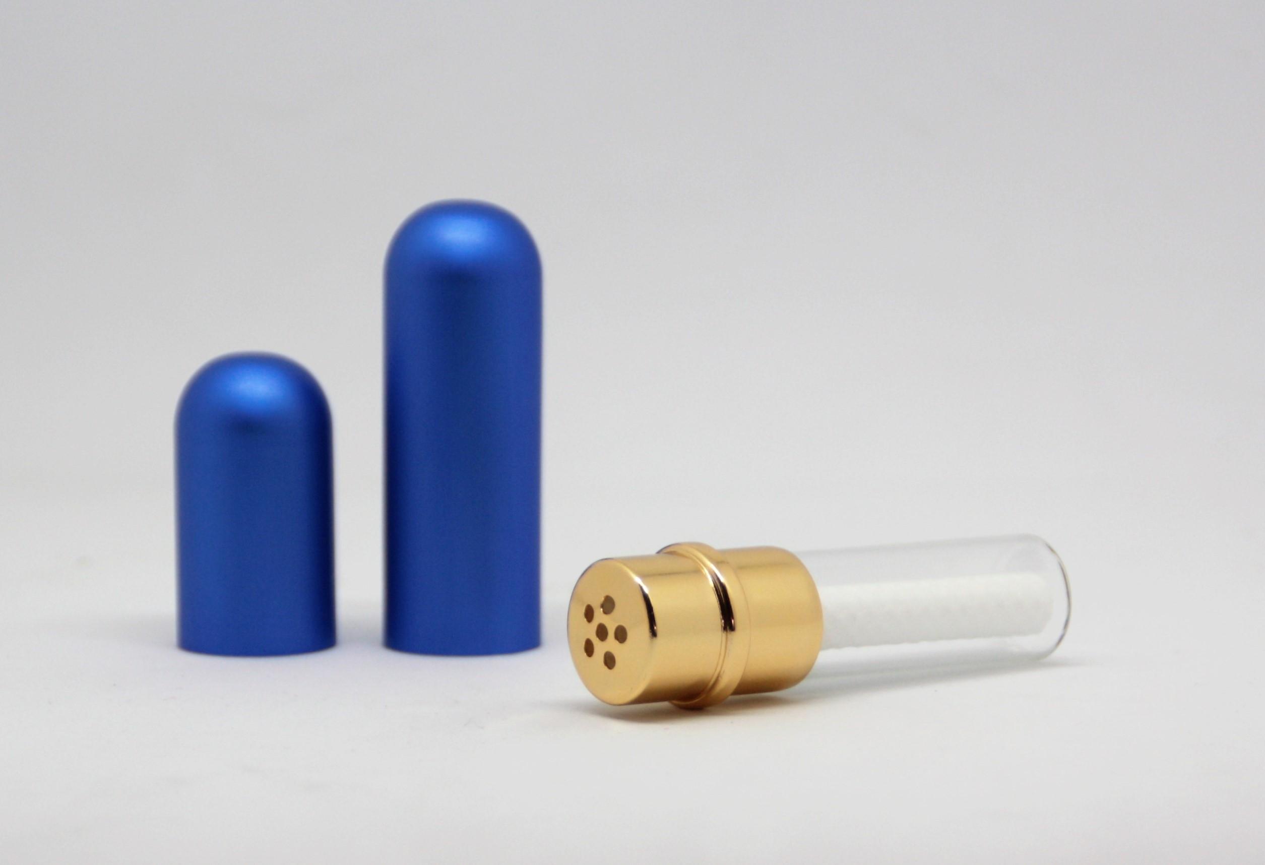 Riechstift Glas / Alu - blau