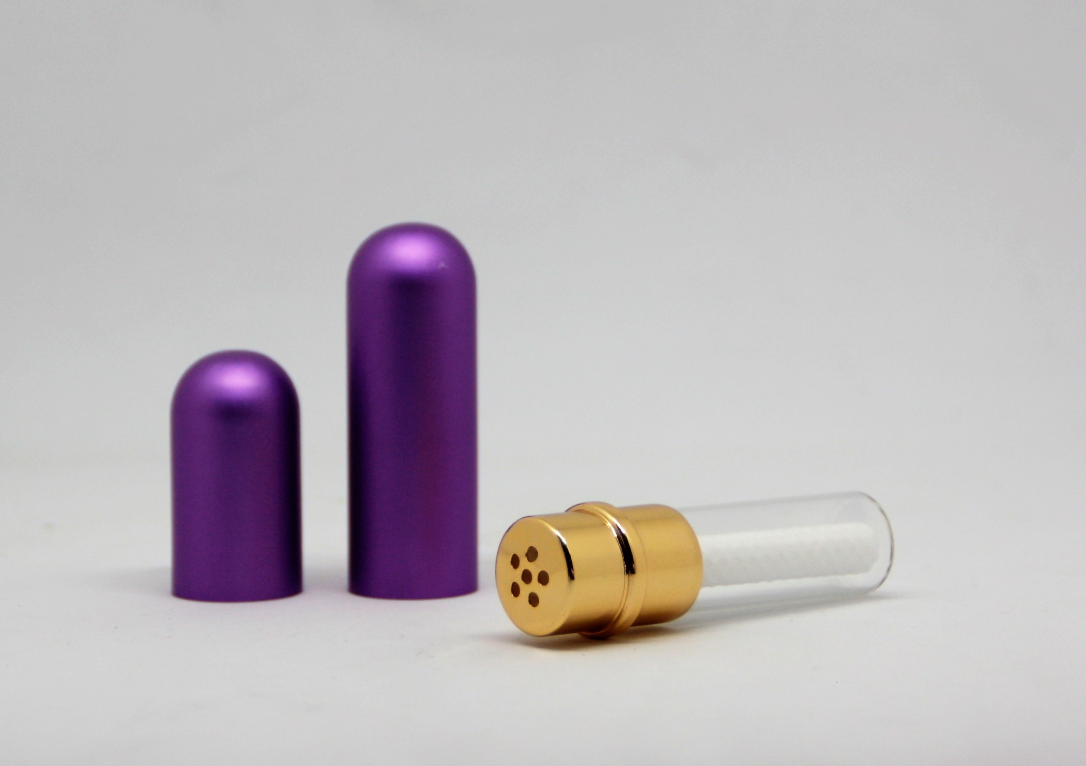 Riechstift Glas / Alu - lila