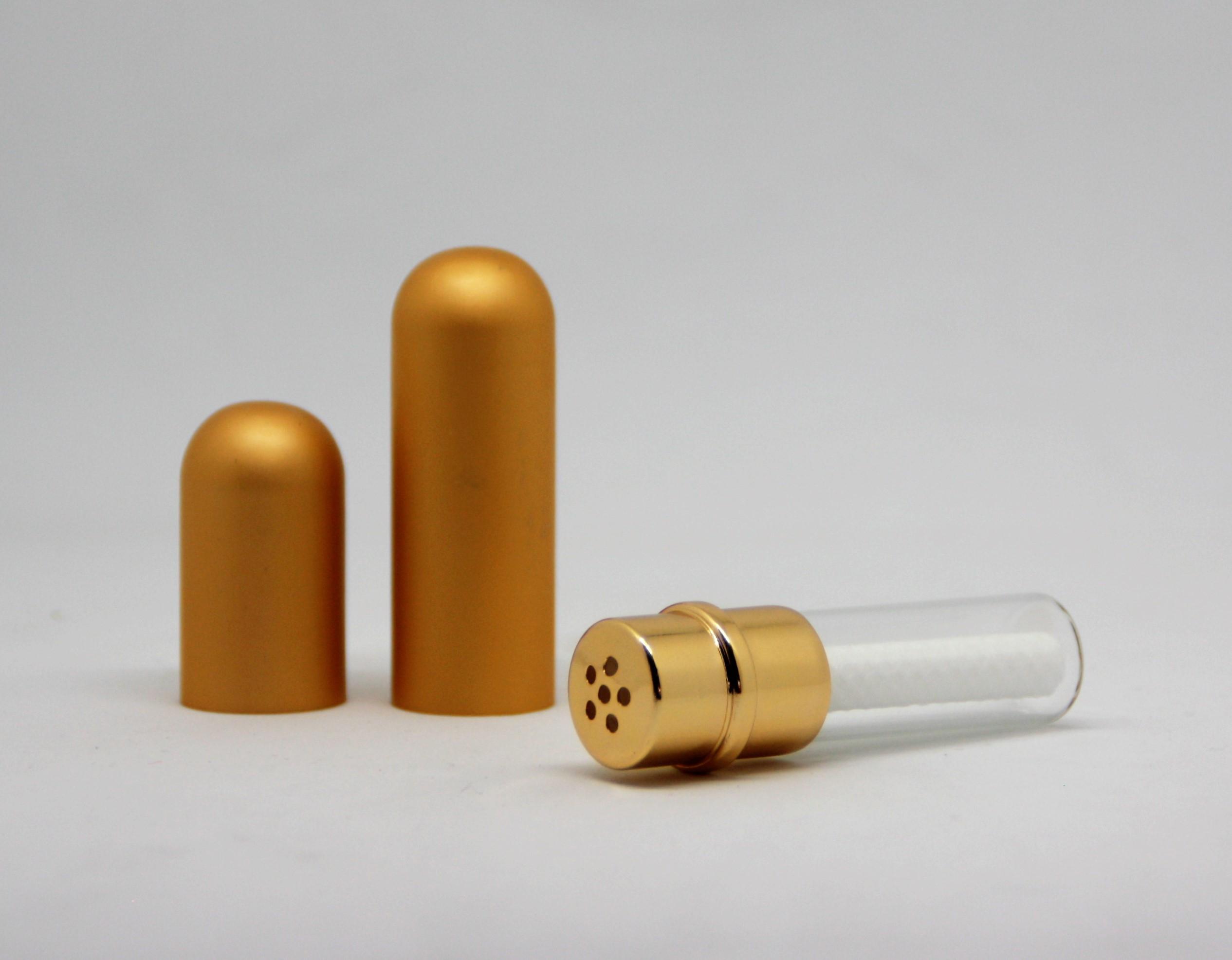 Riechstift Glas / Alu - gold