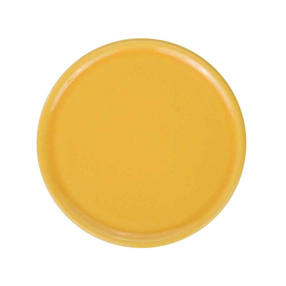 Keramik-Untersetzer für Duftsteine - gelb