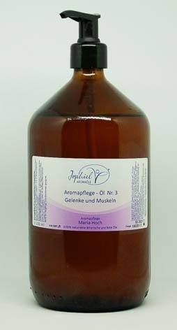 Aromapflege-Öl Nr. 03  Gelenke und Muskeln 1000 ml