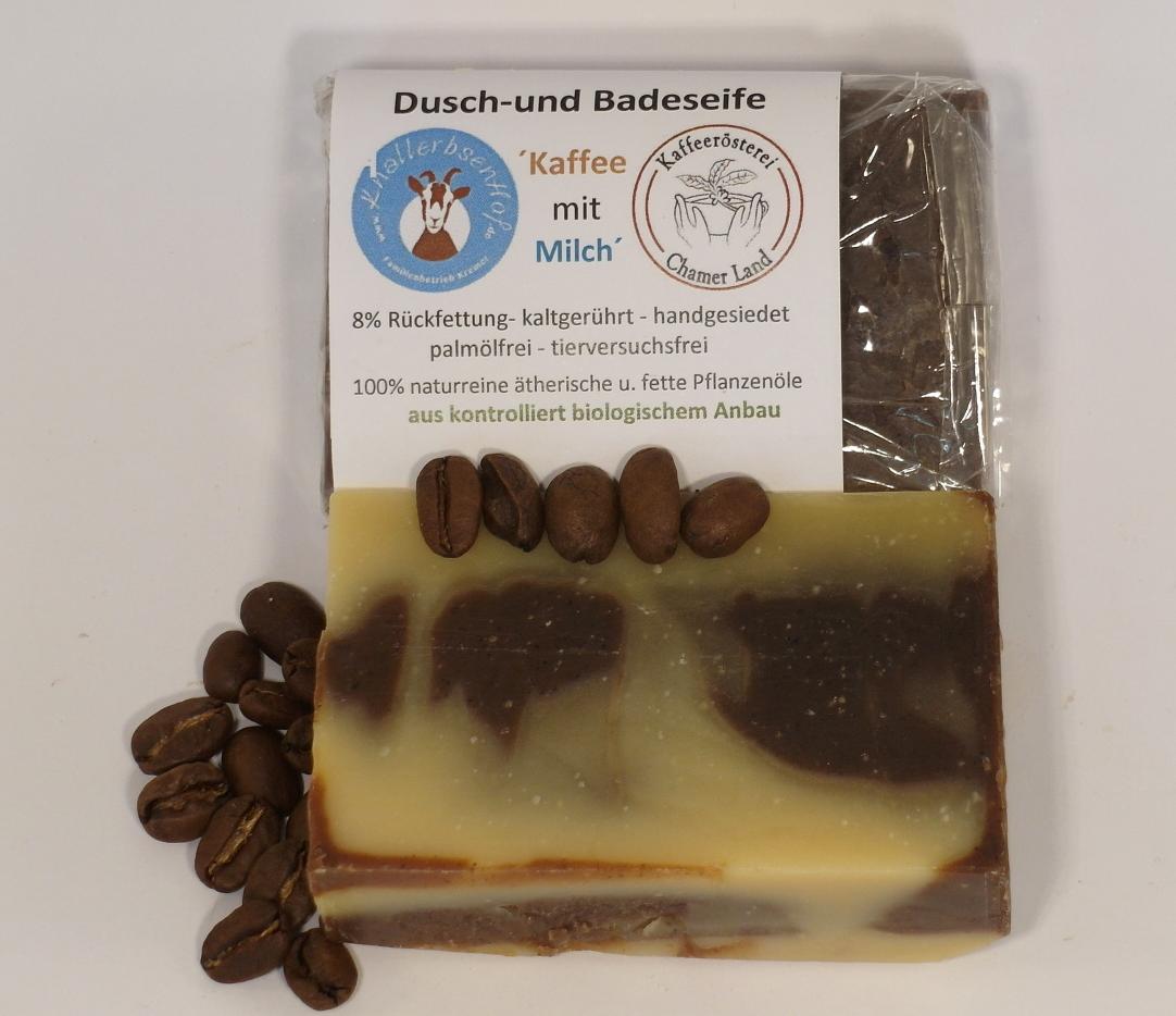 """Bio Dusch- und Badeseife Ziegenmilch """"Kaffee mit Milch"""""""