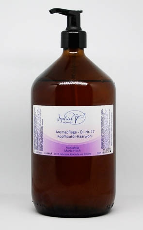 Aromapflege-Öl Nr. 17 Kopfhaut- und Haarwohl 1000 ml  Bio