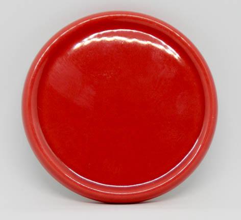 Keramik-Untersetzer für Duftsteine - korallenrot