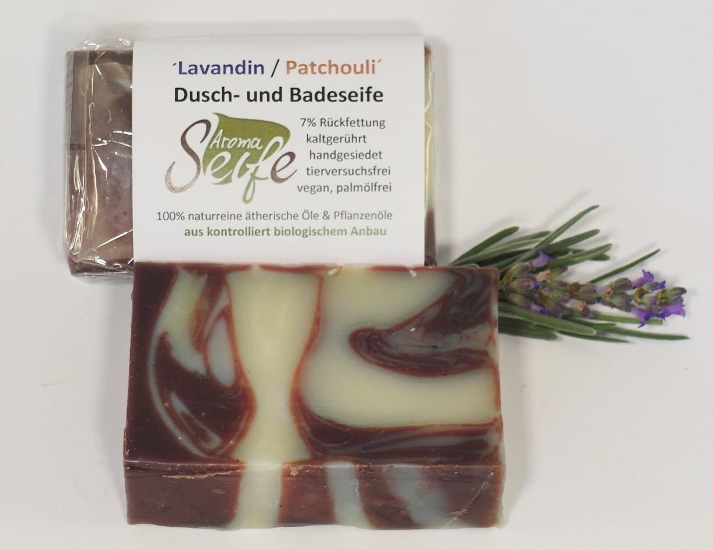 """Dusch- und Badeseife """"Lavandin/Patchouli"""" Bio"""