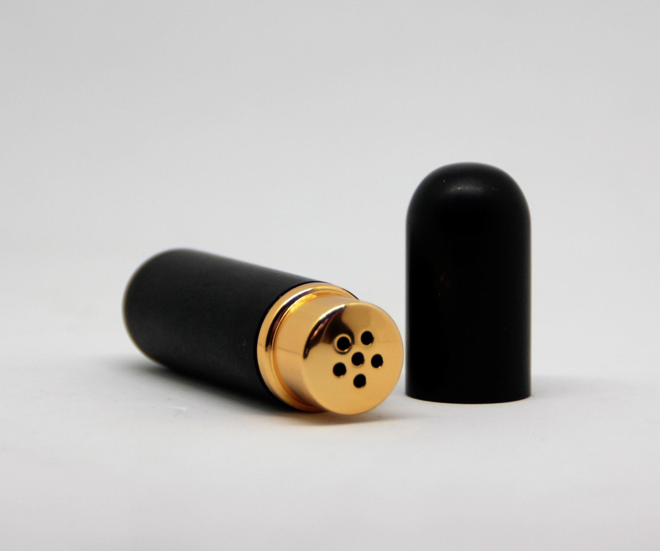 Riechstift Glas / Alu - schwarz