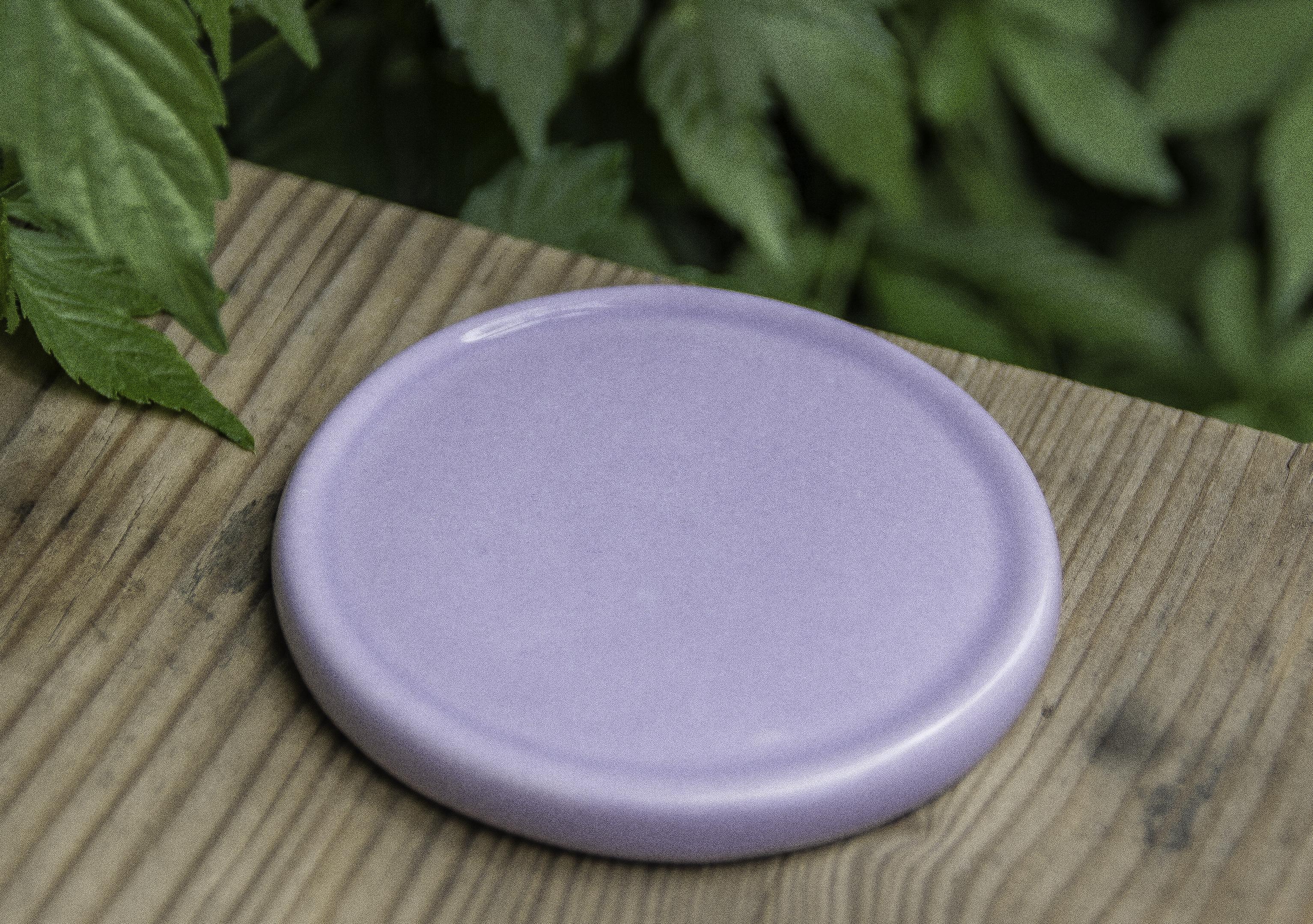 Keramik-Untersetzer für Duftsteine - fliederfarben