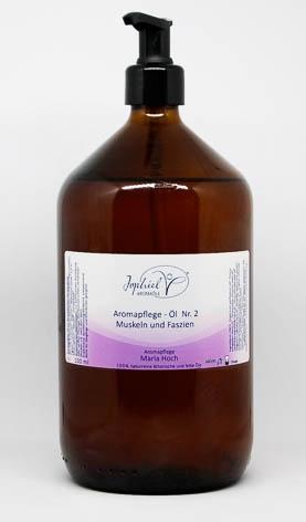 Aromapflege-Öl Nr. 02  Muskeln und Faszien 1000 ml