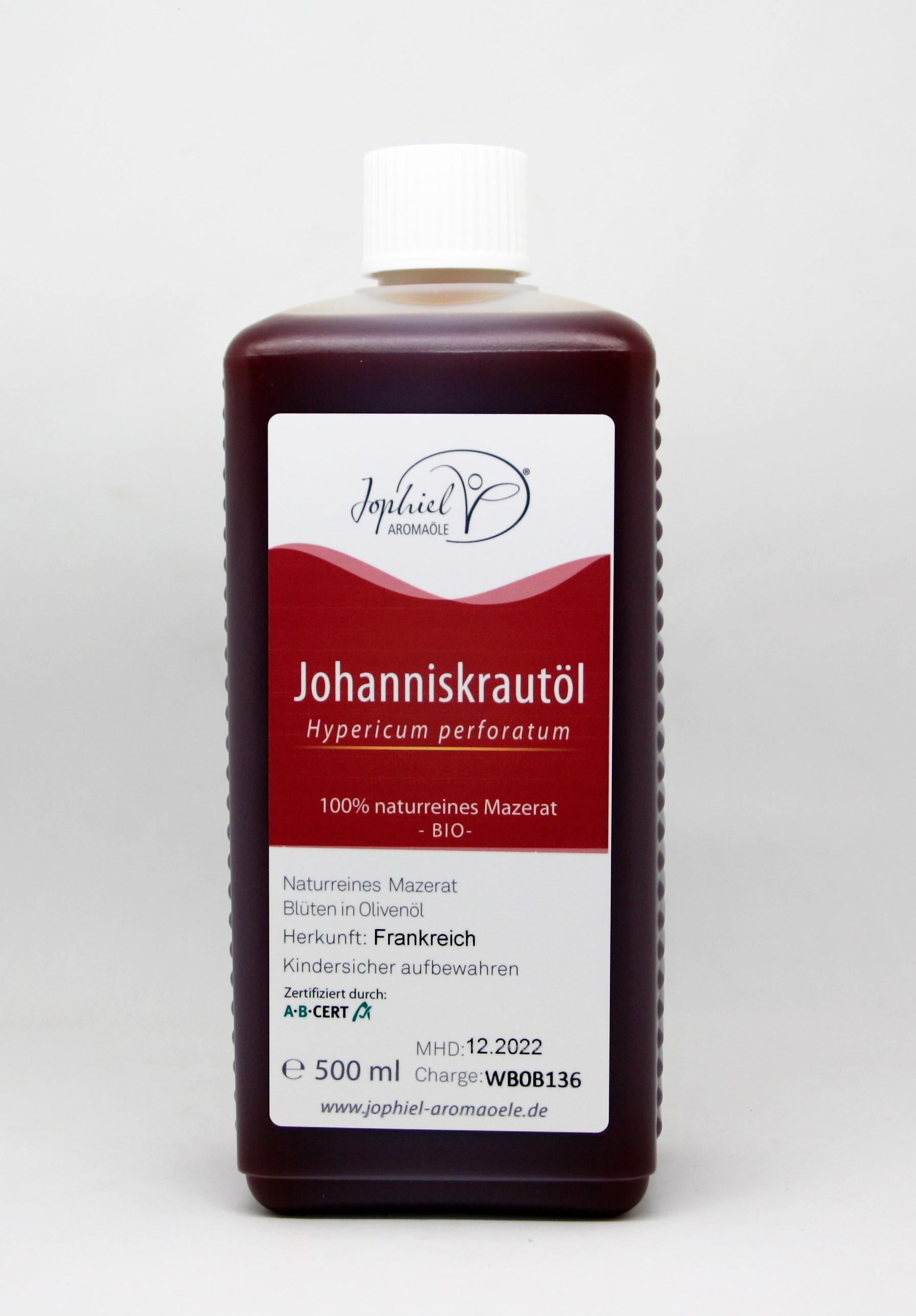 Johanniskrautöl Mazerat in Olivenöl Bio 500 ml