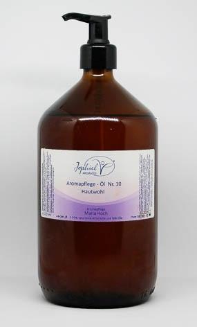 Aromapflege-Öl Nr. 10 Hautwohl 1000 ml  Bio