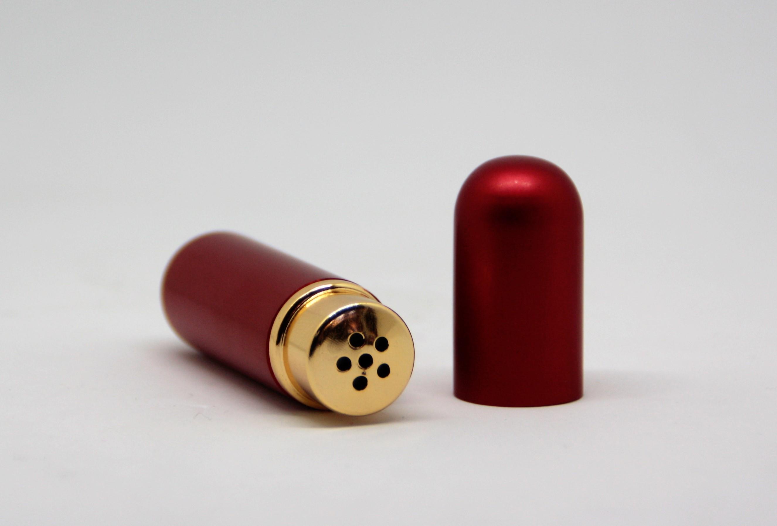 Riechstift Glas / Alu - rot